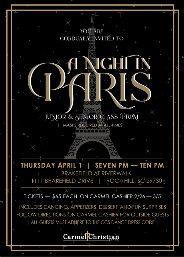"Prom is back with ""A Night in Paris"""